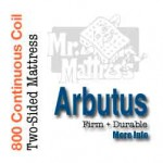 Arbutus two-sided continuous coil mattress, Mr. Mattress