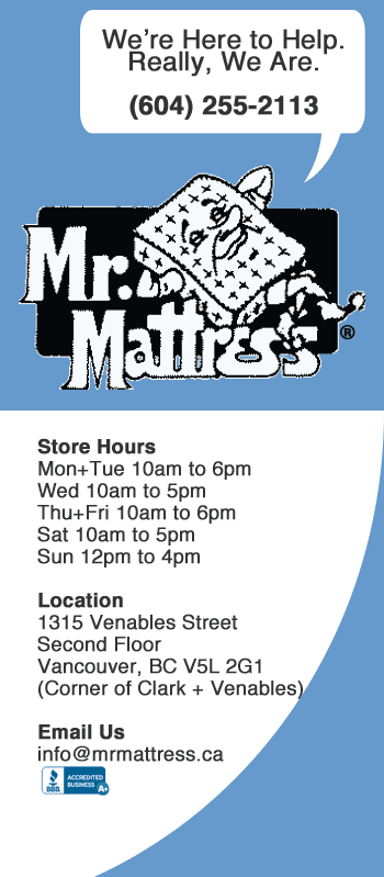 Mr. Mattress is Helpful! Contact Vancouver Mattress Store for all Your Mattress Needs.
