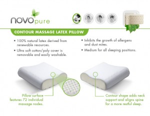 NovoPure Contour Massage Latex Pillow by Novo Sleep Systems®